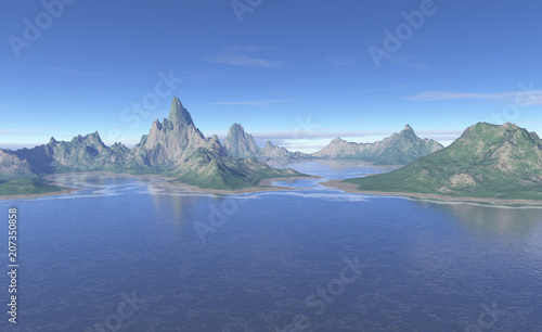 """Primordial Landscape - fantasy illustration"" Stock photo and royalty-free images on Fotolia.com - Pic 207350858"
