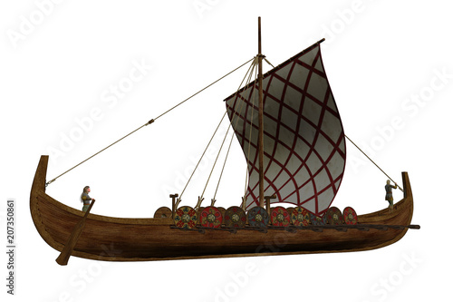 """Viking Longship Illustration"" Stock photo and royalty-free images on Fotolia.com - Pic 207350861"