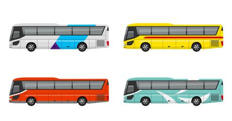 観光バス、高速バス、夜行バス、セット