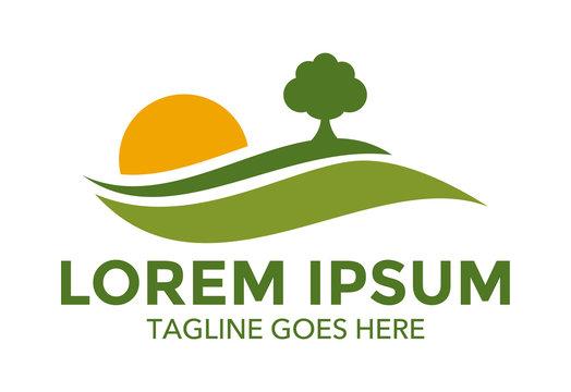 landscape logo vector design