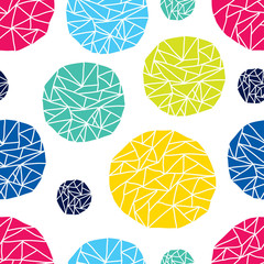 Colorful seamless pattern, polka dot fabric, wallpaper, vector