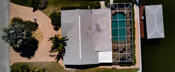 Florida house from above