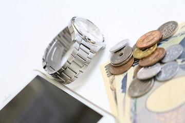 お金 時計 スマートホン