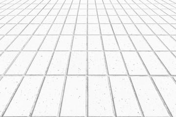 Outdoor white stone block floor background