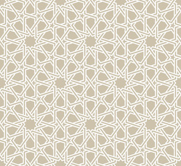 Classical Moroccan geometric seamless pattern