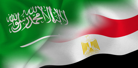 サウジアラビア エジプト  国旗 サッカー