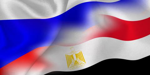 ロシア エジプト  国旗 サッカー