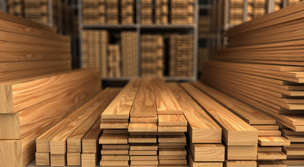 Wood in Warehouse