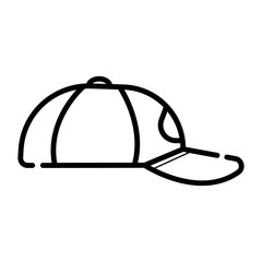 Baseball hat sketch icon