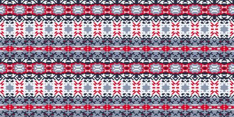 Horizontal seamless pattern winter design. Ethnic textile print. Vector fashion background.