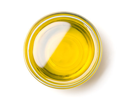 olive oil bowl isolated