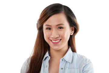 Cheerful Vietnamese woman