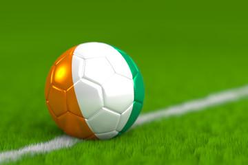 Soccer Ball With Ivorian Flag 3D Render