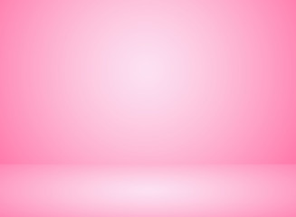 Studio room interior pink color background with lighting effect. Fototapete