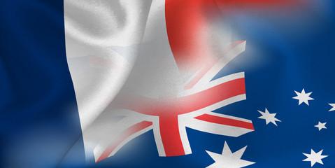 フランス オーストラリア  国旗 サッカー