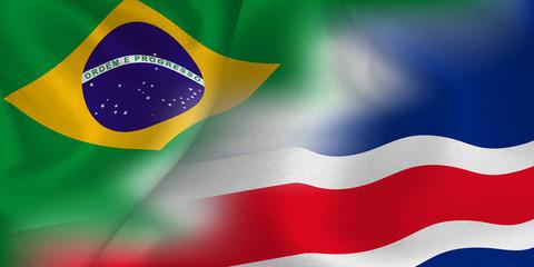 ブラジル コスタリカ  国旗 サッカー