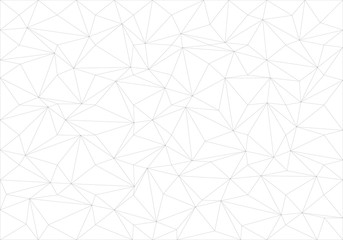 Abstract black line thin polygon pattern on white background texture vector illustration.