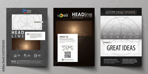 Business Templates For Brochure Flyer Booklet Cover Design