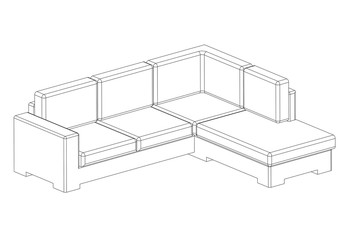Sofa Architect blueprint - isolated