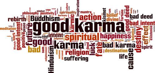 Good karma word cloud
