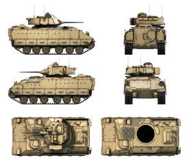 3d-illustration of M2A2 Bradley