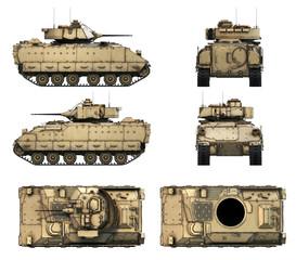 Wall Mural - 3d-illustration of M2A2 Bradley
