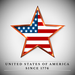 usa star, independence day. Vector illustration