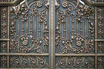 Decorative beautiful forged metal gate finishing elements