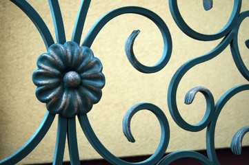 Beautiful forged, decorative fencing fence