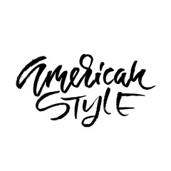 American style. Go to the beach. Modern typography phrase. Black and white lettering for summer print and poster. Vector illustration.