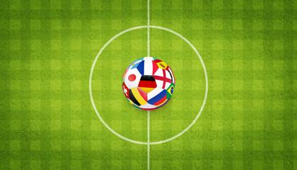 Ball auf dem Fussballplatz