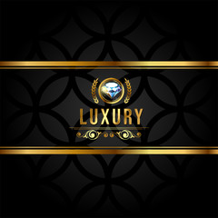 Luxury banner with golden elements