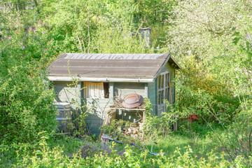 Gartenlaube in einem Kleingarten