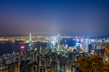 city skyline in hongkong china