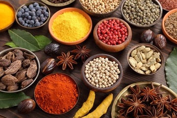 Photo sur Aluminium Spices and herbs.