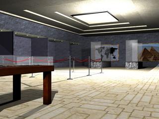 Museum mit Ausstellungsfläche