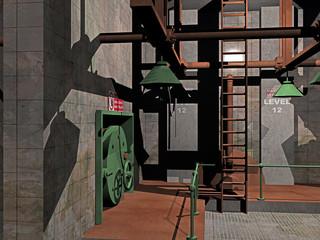 Fabrikhalle aus Beton und Stahl