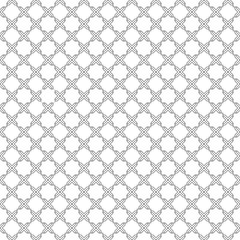 Islamic star octagonal shape pattern. Seamless abstract background. Black and white simple ornament. Vector backdrop