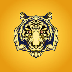 Japanese style tiger vector illustration