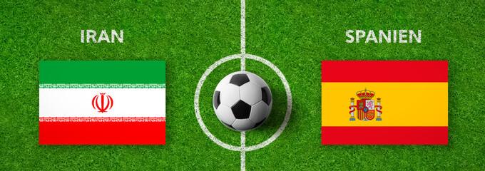 Fußball - Iran gegen Spanien