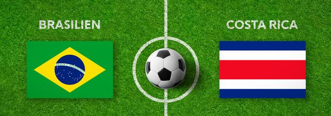 Fußball - Brasilien gegen Costa Rica