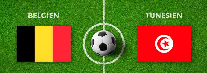 Fußball - Belgien gegen Tunesien
