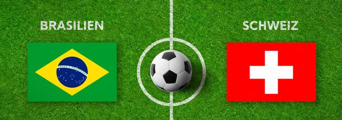 Fußball - Brasilien gegen Schweiz