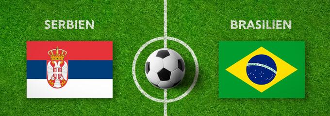 Fußball - Serbien gegen Brasilien