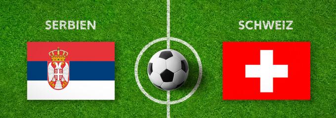 Fußball - Serbien gegen Schweiz