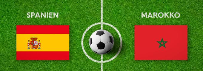 Fußball - Spanien gegen Marokko