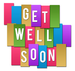 Get Well Soon Colorful Stripes Group