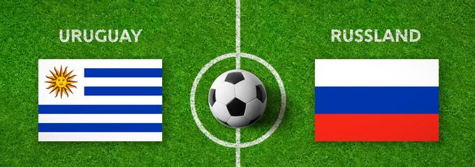Fußball - Uruguay gegen Russland