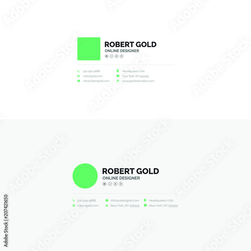 corporate email signature design stock image and royalty free