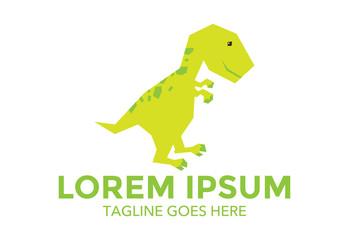 dinosaur mascot character vector logo
